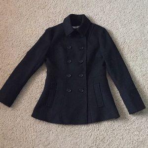 Romy black pea coat